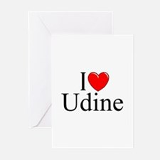 """""""I Love (Heart) Udine"""" Greeting Cards (Pk of 10)"""
