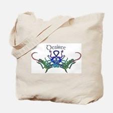 Desiree's Celtic Dragons Name Tote Bag