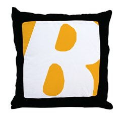 Stamped Letter B Throw Pillow