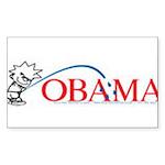 Piss on Obama Rectangle Sticker 50 pk)