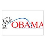 Piss on Obama Rectangle Sticker 10 pk)