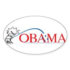 Piss on Obama Oval Stickers