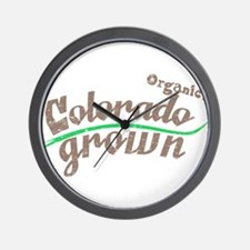 Organic! Colorado Grown! Wall Clock