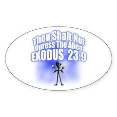 Exodus Oval Sticker (10 pk)