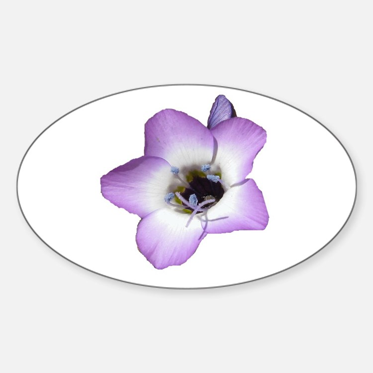 Purple Flower - Oval Decal