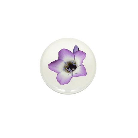 Purple Flower - Mini Button