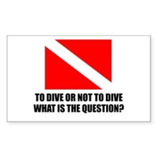 To Dive Rectangle Decal