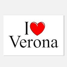 """I Love (Heart) Verona"" Postcards (Package of 8)"