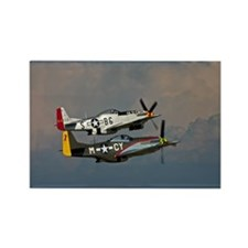 P-51 Mustang formation Rectangle Magnet