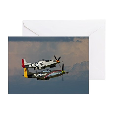 P-51 Mustang formation Greeting Cards (Pk of 10)