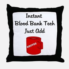 Blood Bank Tech Throw Pillow