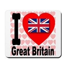 I Love Great Britain Mousepad