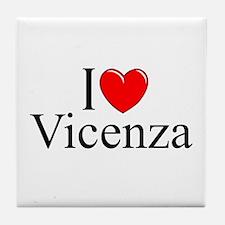 """I Love (Heart) Vicenza"" Tile Coaster"