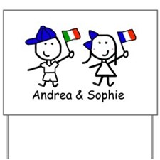 Flags - Andrea & Sophie Yard Sign