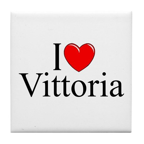 """I Love (Heart) Vittoria"" Tile Coaster"