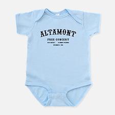 altamont free concert Infant Bodysuit