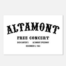 altamont free concert Postcards (Package of 8)