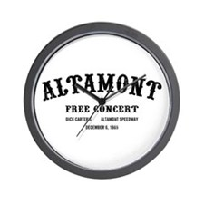 altamont free concert Wall Clock