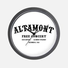 altamont free concert Wall Clock