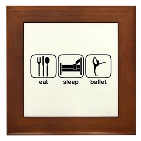 Eat Sleep Ballet 2 Framed Tile