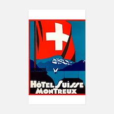 Hotel Suisse (Montreux) LuggageSticker (UnTrimmed)