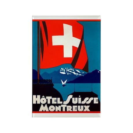 Hotel Suisse (Montreux) Rectangle Magnet