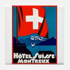 Hotel Suisse (Montreux) Tile Coaster