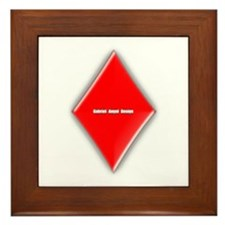 Of Diamonds Framed Tile