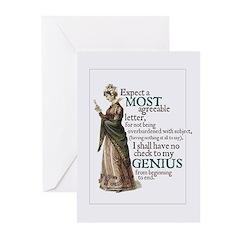 Jane Austen Genius Greeting Cards