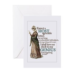 Jane Austen Genius Greeting Cards