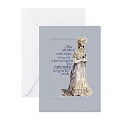 Jane Austen Silence Greeting Cards