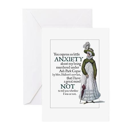 Jane Austen Anxiety Greeting Cards