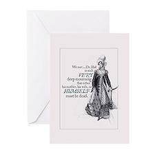 Jane Austen Mourning Greeting Cards