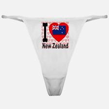 I Love New Zealand Classic Thong