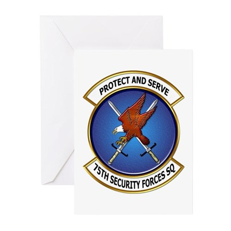 75th Security Forces SQ Greeting Cards (Pk of 20)