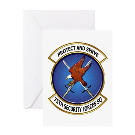 75th Security Forces SQ Greeting Card