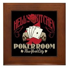Hell's Kitchen Poker Framed Tile