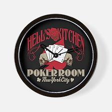 Hell's Kitchen Poker Wall Clock