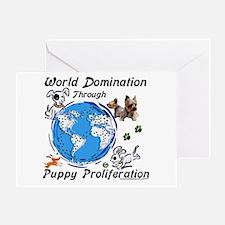 World Puppy Proliferation Greeting Card
