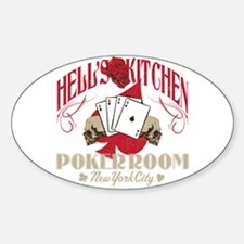 Hell's Kitchen Poker Oval Decal