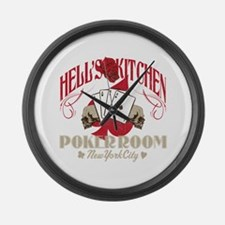 Hell's Kitchen Poker Large Wall Clock