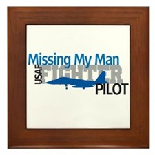 USAF Fighter Pilot Framed Tile