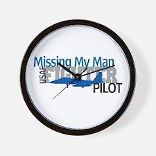 USAF Fighter Pilot Wall Clock