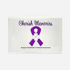 Alzheimers (Cherish) Rectangle Magnet