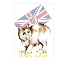 Manx Cats Postcards (Package of 8)