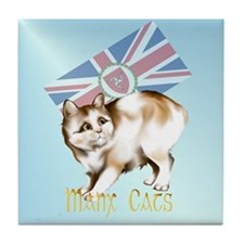 Manx Cats Tile Coaster