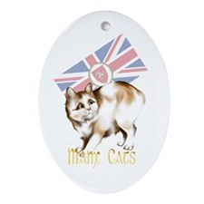 Manx Cats Oval Ornament