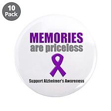 """Alzheimer Priceless 3.5"""" Button (10 pack)"""