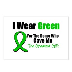 Greatest Gift Organ Donor Postcards (Package of 8)