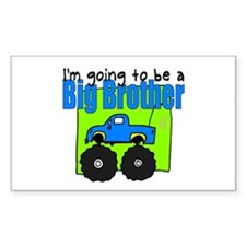 Monster Truck Big Brother Rectangle Decal